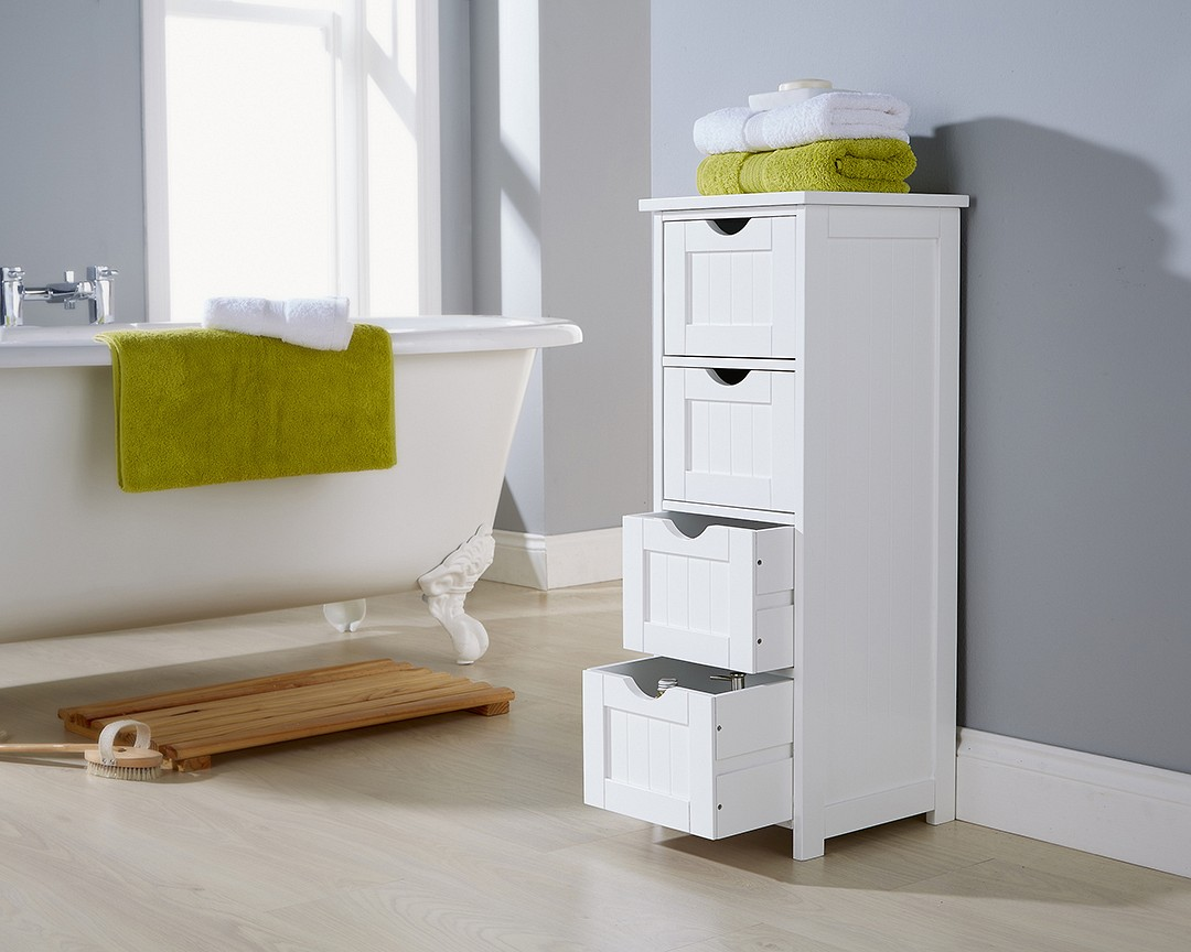 Bathroom 4 Drawer Storage Unit