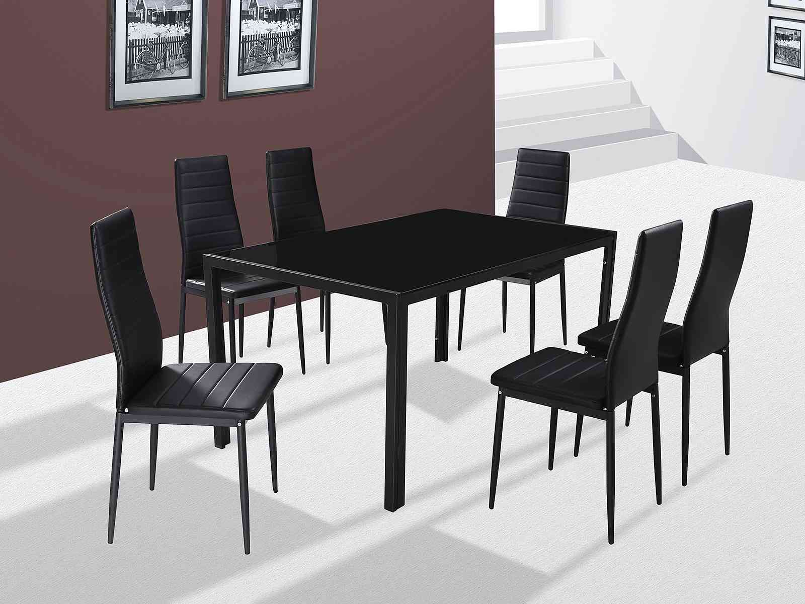 GFW The Furniture Warehouse Houston 6 Chair Dining Set