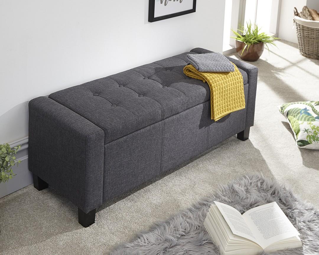 Outstanding Verona Fabric Ottoman Storage Bench Machost Co Dining Chair Design Ideas Machostcouk